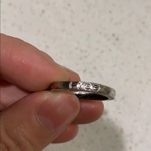 Vintage inspired silver ring